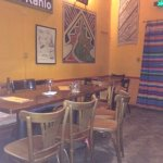 Inside of the restaurant, certainly not plush but trying to give an authentic mexican feel.