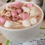 Malteaser's hot chocolate with marshmallows and cream