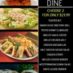 "Two Can Dine for $19.99""...  .. available from open 'til close every Tuesday!"