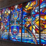 More of the stained glass exhibit