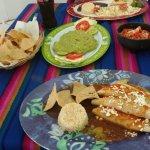 Fish tacos, quesadillas, fresh quac