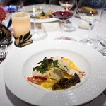 Lobster, linguini, chanterelle mushrooms