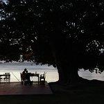 Restaurant terrace and beach