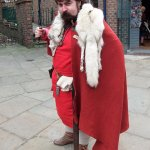 Viking gentleman striking a pose.