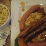 Selection of sausage and spaetzle. So good!!!!