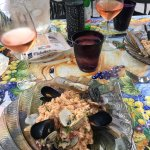 Allergen friendly seafood risotto