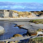 The beach has remains of the Atlantic Wall WW2 bunker system.