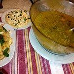 Večeře: předkrm a polévka