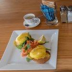 Eggs Benedict with NZ smoked salmon