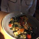 Salmon supreme, very enjoyable with lots of well seasoned veg!