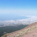 Mt. Vesuvius - the view over Naples