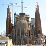The Basilica of Sagrada Familia from the Rooftop Terrace