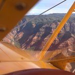 flying above Waimea Canyon