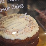Our carrot cake with lemony cream cheese icing