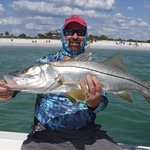 Another over sized snook, over 35 inches, great fight.
