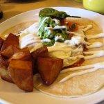 huevos rancheros with potatoes