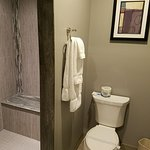 The beautiful bathroom in one of our newly remodeled rooms!