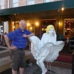 Even Marilyn enjoys Savannah. Right in front of the Cafe at City Market.