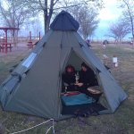 Tent sites are spaced well.