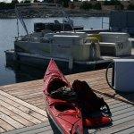 I finally retrieved my boat using the pontoon boat