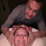 Having an amazing facial given by Patrick!
