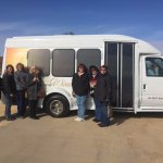Wine tour van and the group. Thank you Dennis!!
