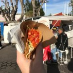 Taco from a cart in Nogales, Mexico - It was delicious
