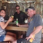 Fun bartender that makes an awesome Rum Punch that packs a punch at La Sirena de Camp Bay