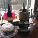 We were excited to be greeted to a spacious 2BR/2BA room by a pairing of local wine and cheese!