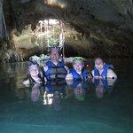 Enjoying the Cenote