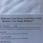 Personalized 'Happy Birthday' menu