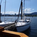 boats docked at the dingy dock, to stop to have something to eat