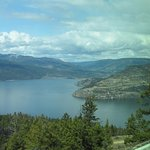 A spectacular view from the restaurant, looking north on to the Okanagan Lake.
