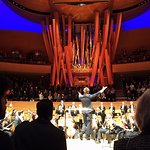 Applause for the guest conductor and LA Phil.