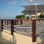 Wheelchair ramp for sitting area at Playa Langostas