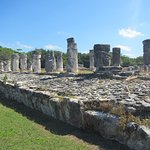 Large ruin structure with lots of columns