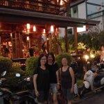 My family outside the Dash Restaurant Chiangmai