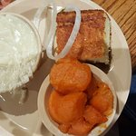 Candied yams were AWESOME!  Chicken & dumplings with cornbread were also good.