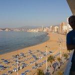Vista desde la terraza en la 5º planta a la Playa de Levante
