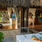 Start your day in paradise with breakfast at your private island villa