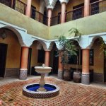 The courtyard of the first riad