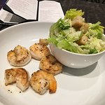 Small Cesar salad with shrimp at the M club