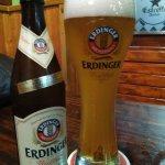 Cerveza Erdinger, muy buena.
