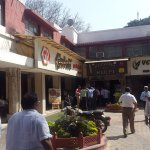 A view of the other restaurants on Pandara road, where non veg meals and chinese cuisines availa