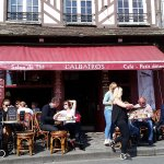 Lunch in Honfleur, Normandy