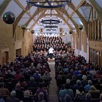 A view of the concert in the Tithe Barn taken from the Gallery by Jeff Hutson