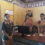 Staff in reception with Nazima