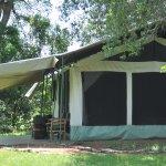 Notre tente au bord de la rivière