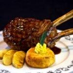 veal chop with polenta