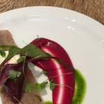 Trout and beetroot